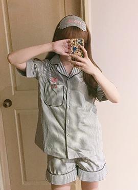 핑크팬더 잠옷 (안대set)